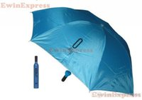 Wholesale New Fashion design protable Red Wine Bottle Umbrella Folding Umbrella Sunshade For Outdoor Camping Color mixed