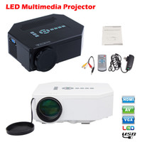 Wholesale Free DHL Mini UC30 Home Theater LCD LED Portable Pocket Projector Lumens Support P HD HDMI USB