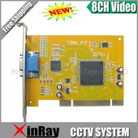 8 CH DVR Tarjeta de Captura Equipo de seguridad del sistema CCTV PCI video XR-7308A, envío libre