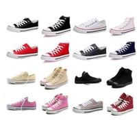 Wholesale 2016 High quality Classic Low Top High Top canvas Casual shoes sneaker Men s Women s canvas shoes Size EU35 retail