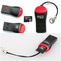 Wholesale Whistle USB T flash Micro SD Memory TF M2 Card Reader Adapter for gb gb gb gb gb gb TF Micro SD Cards DHL free