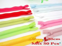 Wholesale Free shi ing cm Colorful Nylon Zipper Blended color DIY Commonly used zipper