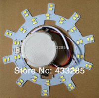 Wholesale 2014 New Double color temperature w SMD5730 LED Lamp plate dimmable Ceiling Lights