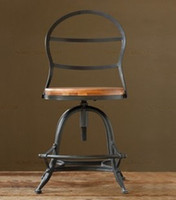 American do the old wrought iron bar chairs reception chairs office chair new American bar lift rotary Stools in bulk