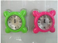 bath wall clock - Creative Lovely Bath Clock Sucker Wall Clock Simple Style Candy Colors Wall Watch Kitchen Clock Gifts for Children Freeshipping