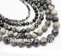 bead web - mm Natural Spider Web Jasper Round Beads inch strand Pick Size F00112