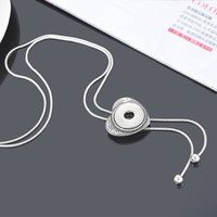american fasteners - Fashion Jewelry Heart shaped Rhinestone Necklace DIY Fit Snap Button snap fastener mm Fashion Women cm PC