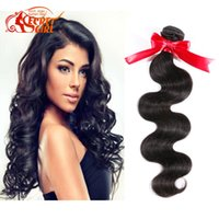 best hair straightening products - Rosa Hair Products Brazilian Virgin Human Hair Body Wave Brazilian Human Hair Weaves Bundles Thick Full Best Quality inch Top Fashion