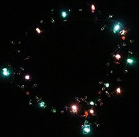 beaded pendant lights - 500 BBA4822 hotsale Led Necklace Necklaces Flashing Beaded Light Toys Christmas gift lighted necklace LED Pendant Flash Luminous necklace