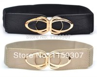 elastic belt - New Woman Korean Elastic Cummerbund Woman Elastic Belt cintos femininos Cross Buckle Top Quality