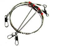 Wholesale new CM Arms Fishing Stainless Steel Rigs Wire Leaders with Swivel Snap