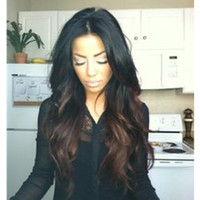 Cheap multi-colored human hair wigs Best other Indian hair ombre hair wigs
