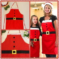 Wholesale Christmas Theme Decoration Satan Claus Style Apron Red X mas Pinafore Festival Party Dinner Evening Accessories HX426