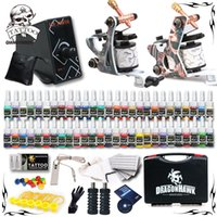 2 Guns complete tattoo kits - Complete Tattoo Kit Machine Guns Ink Equipment Needles Power Supply