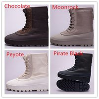 Cheap 2016 Kanye West shoes MILAN YZY BOST 950 Chocolate Yee Boost Pirate Black Peyote unisex High height increasing canvas Sneakers Free DHL
