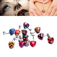 Wholesale 12 navel jewelry navel ring ear ring puncture accessories women s Heart Shape Body Jewelry