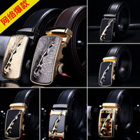 Wholesale new classic high grade variety of automatic buckle Genuine leather belts men s fashion buckle belts boy s belts
