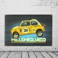 advertising gallery - quot MILLEMIGLIA quot Advertising Tin Plaques X30CM Metal Plate Vintage Tin Signs Bar Club Garage Gallery Home Wall Decor Poster