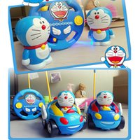 Electric baby music boxes - Doraemon Remote RC Car Control Toys Mini Red Car Toy With Glow And Music With Retail Box Birthday Gift Baby Toy