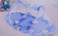 baby shade tent - Easy carry baby mosquito curtain Fold Safty Mosquito Net Boat Style Playpen Shade Travel Tent Bed