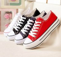 Wholesale 2015 dorp shipping New Unisex Low Style Adult Women s Mens Canvas Shoes Laced Up Casual Shoes Sneaker Colors Drop Shipping Top Quality