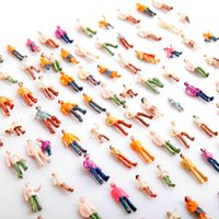 Wholesale Mini Painted Model People HO Scale Mix Painted Model Train Park Street Passenger People Figures