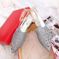ankle strappy sandals - Hot Strappy Stipe Womens Gladiator Flat Heels Sandals Summer Slippers Studded Rhinestone Flats Women Loafer Shoes on Platform