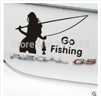 belle fish - pieces belle go fishing Vinyl Car Window Decals Graphics Sticker car styling