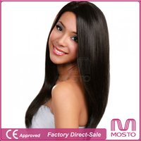 lace wigs for african american - New Human Wig Glueless Middle Part Human Hair Wigs for Black Women Straight Full Lace and Lace Front Wigs for African Americans Color B