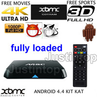 Wholesale M8C XBMC Fully Loaded Amlogic S812 Android Smart TV Box Quad Core Bluetooth Free SkySports Arabic IPTV Films Kids Adult Channels Devil Video