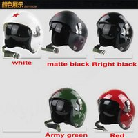Half Face aviation pilots - Chinese Fighter Jet Pilot Flight Helmet Open Face aviation helmets Motorcycle Helmet kinds colors and FREE SIZE cm