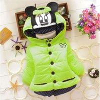 Wholesale new baby girl winter coat Children cartoon Outerwear girls Winter Coat minnie mouse baby kids jackets