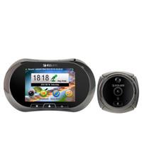 Wholesale NEW3 touchscreenEques R12B Digital Peephole Viewer Visual Cat Eye Doorbell HD door Camera Door Camera Motion Detect1500 mAh li battery