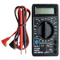 ampere meter ac - 1PC New Useful Mini Digital Multimeter with Buzzer Voltage Ampere Meter Test Probe DC AC LCD Electrical Instruments Free FG1014