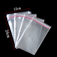 Wholesale Clear Plastic OPP Bags With Adhesive Strip Christmas Gift Bags Transparent Cellophane Bags x24cm