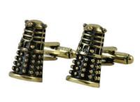 clip tie clip - Men s Wedding Party Gift Doctor Who DW DALEK Fashion Cufflinks