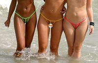 Cheap 2016 new hot high elasticity through micro bikini thong sexy swimsuit fashion underwear men and women underwear mini VS Y36