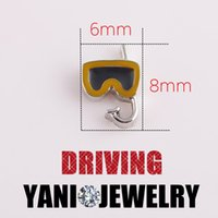 dove charm - 20pcs Enamel Alloy Diving Mask Charms DIY Cute Floating Charms for Glass Locket