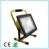 Wholesale CE Approval Portable Rechargeable Floodlight W DC12V mAh Emergency Lighitng Yellow Green Red finish Freeshipping