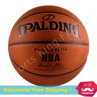Wholesale 2015 Cheap Basket Ball advanced Spalding ball indoor and outdoor common No basketball wear absorbent PU basketball