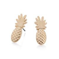 Wholesale 30pcs Pineapple Earrings Cute Little Pineapple Stud Earrings for Women Simple Fun Fruit Minimal Hipster Earrings ED088