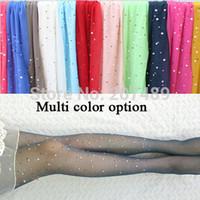 Cheap Wholesale-thin 15D new color translucent Rhinestone shiny thin beautiful long velvet socks pantyhose whcn+