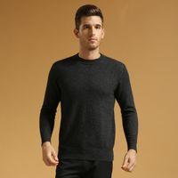 100 cashmere sweater - O Neck Solid Pure Cashmere Sweater Pullover For Men Winter Sweater Cashmere Knitwear Cashmere Pullover Sweater Outwear L107