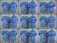 baseball strips - Chicago Cubs Jersey Anthony Rizzo Jon Lester Ryne Sandberg Kris Bryant Ron Santo Blue Strips Baseball Jersey