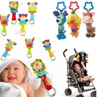toys baby - Baby Infant Soft Animal Handbells Rattles Bed Bell Stroller Soft Stuffed Developmental Toy