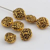 bali style beads - Hot Sale Antiqued Gold Alloy Bali Style Spacer Beads mmx12mmx6mm DIY Jewelry
