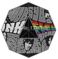 Wholesale New Arrive Rain Sun Umbrella Custom English Rock Band Pink Floyd in London Printed Umbrella Best Gift Umbrella for Friends