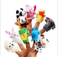Wholesale 10pcs set Velvet Finger Animal Puppet Play Learn Story Toy Cute Cartoon Finger hand Puppets