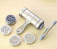 Wholesale 10pcs Stainless Steel Noodle Maker Manual Pasta Tool Machine Maker