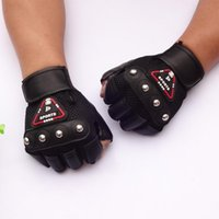 Wholesale Steel ball adult semi finger mma sports leather fitness sandbagged wrist support function Red Blue Black boxing gloves